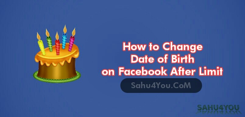 Change Facebook Account Birthday