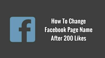 Facebook Page Rename Trick – Change Your Facebook Page Name