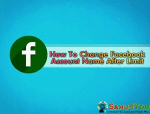 Facebook Account Name Change 60 Dino Se Pahle Kaise Kare