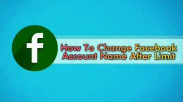 Facebook Account, Name Change, After Limit, 60 Day, Kaise Kare