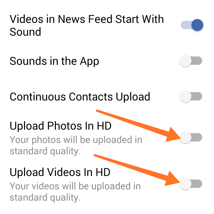 Upload Photos & Video In HD