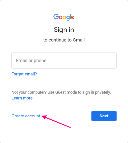Create New Gmail Account, Create Email ID