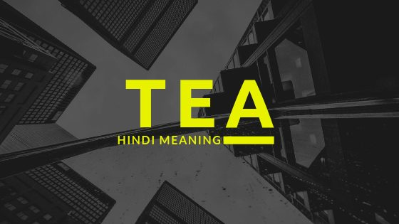 Meaning of TEA Full Form in Hindi