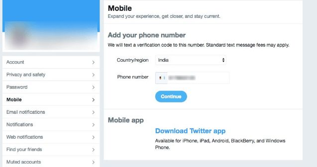 update your twitter account for verification