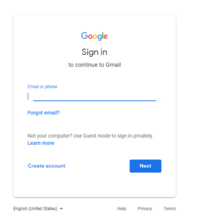 Google Accounts Login Page