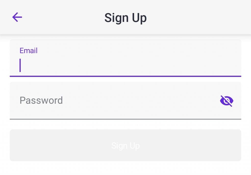 Sign Up Form Style