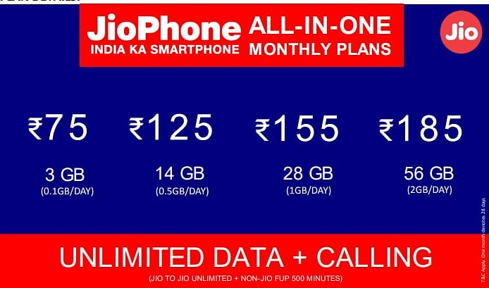 JioPhone All-in-One Plans Offers