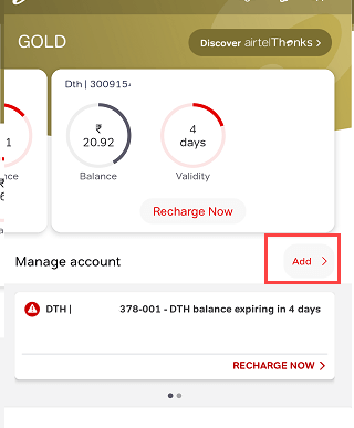 Change Airtel DTH Mobile Number