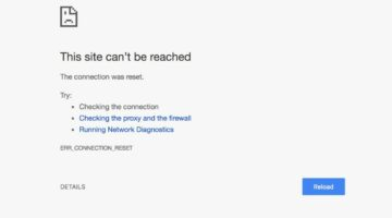 Error Connection Reset in Chrome