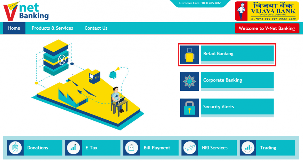 Vijaya Bank Net Banking Registration Process