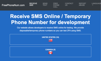 temporary and Disposable Free Phone Number