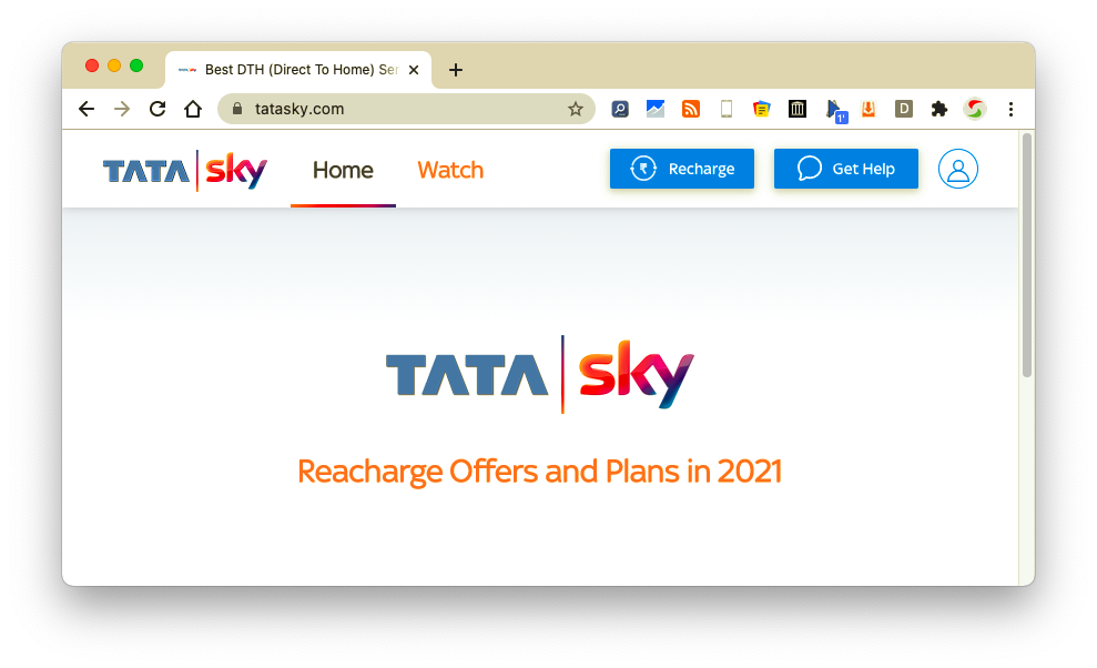 tata sky new recharge offers
