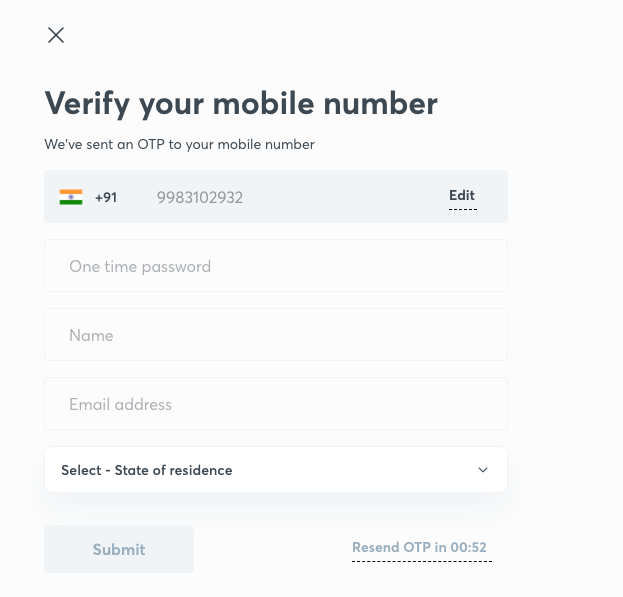 Verify your mobile number on UnAcamemy App